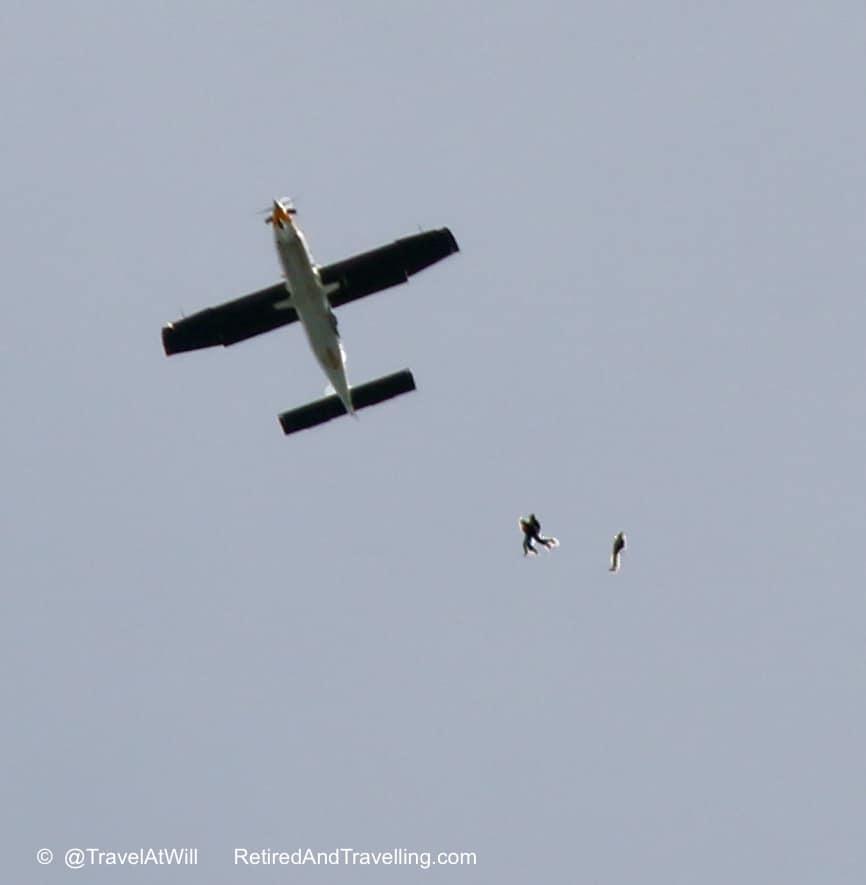 Skydivers Leave Plane - Skydiving In The Rear View Mirror.jpg