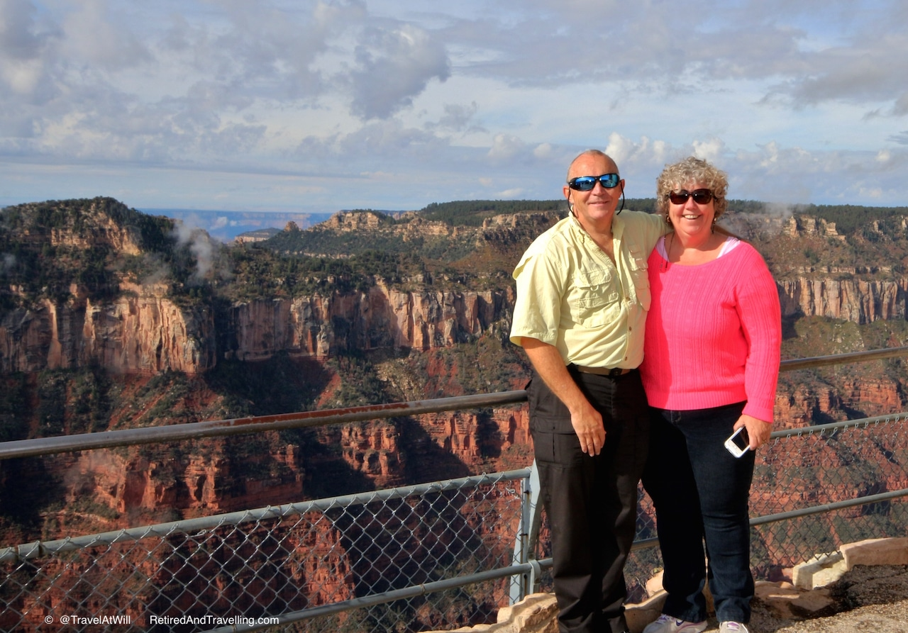 David and Linda at Grand Canyon