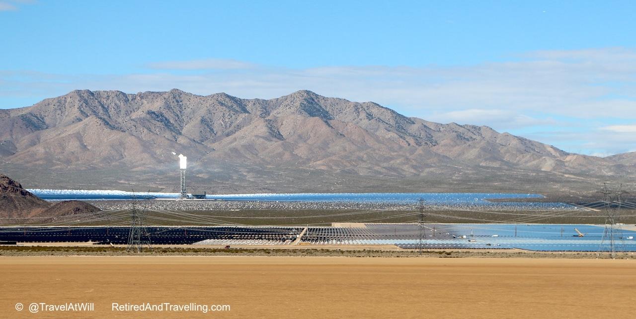 Solar farm in Mojave desert leaving - Las Vegas glitter.jpg