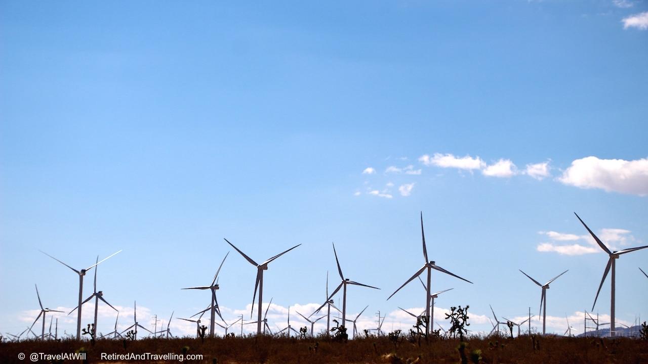 Wind Farm in Mojave desert leaving - Las Vegas glitter.jpg