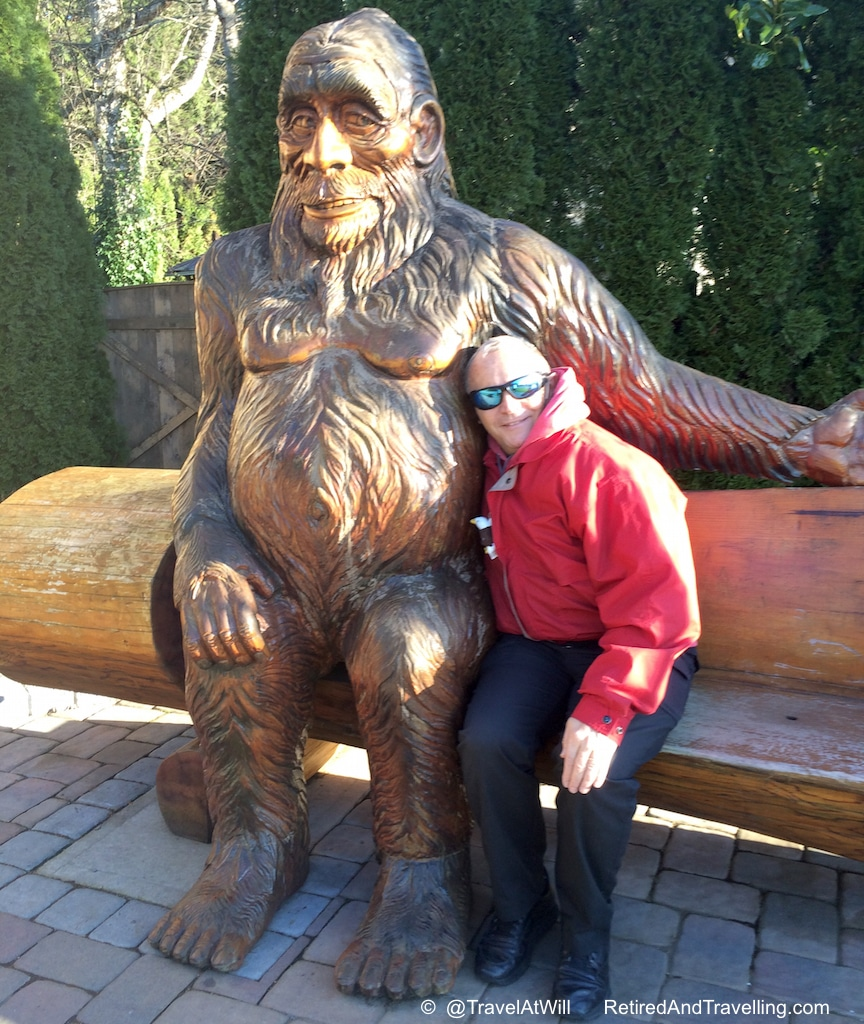 David and the Sasquatch in Harrison, BC!
