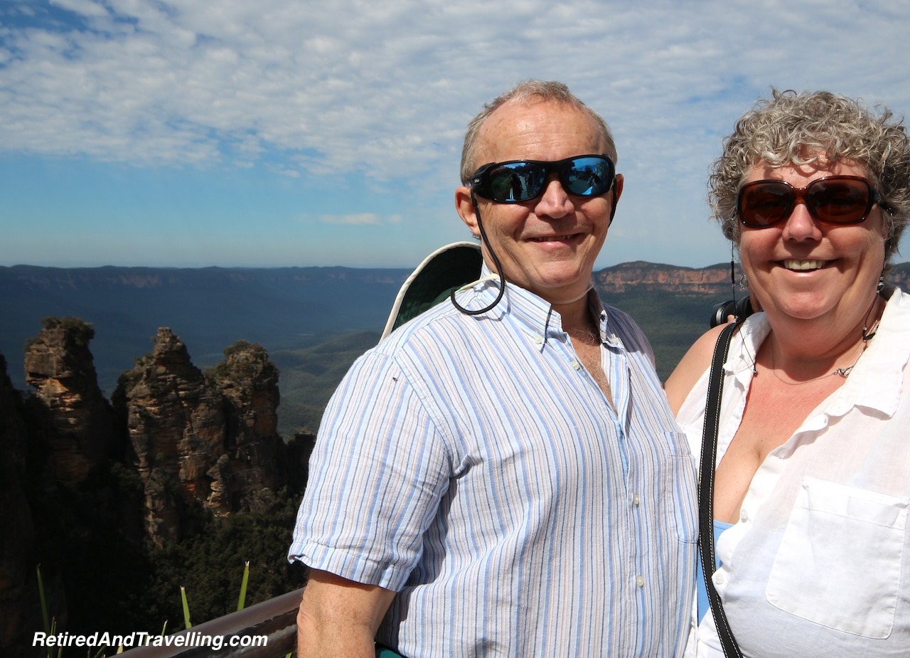 "David and Linda at the ""Three Sisters"" in the Blue Mountains, Australia"