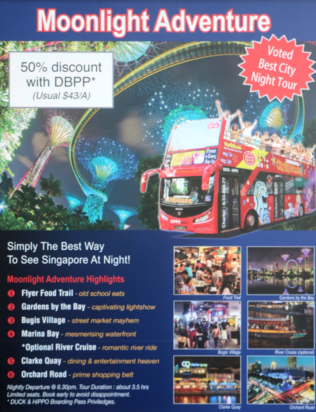 Singapore By Night Retired And Travelling Duck Tour Voucher Hoponhop Off