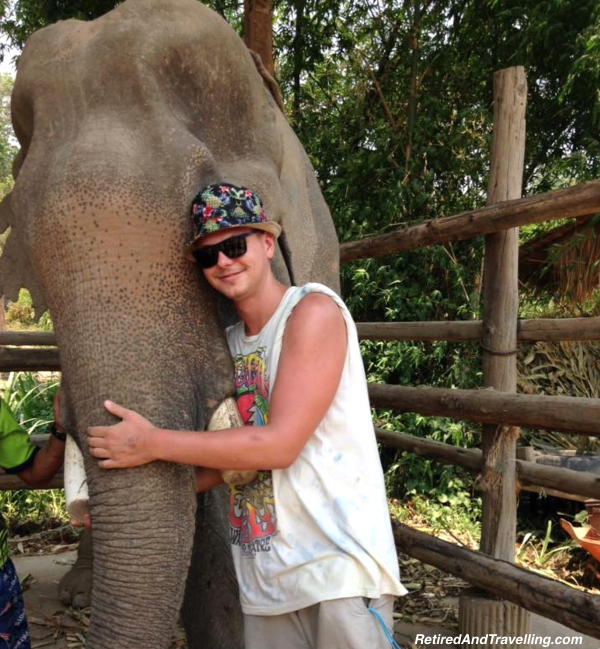 Nick in Chiang Mai with elephant - Thailand for 2 Weeks.jpg