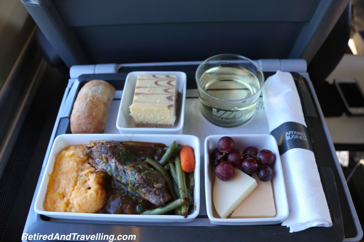 Service and Food -  Via Rail Business Class.jpg