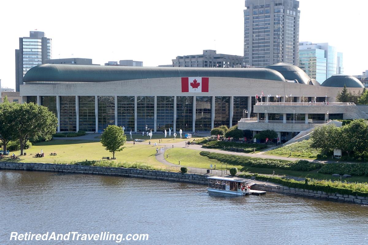 National Museum of History from Alexandra Bridge - Ottawa From The River.jpg