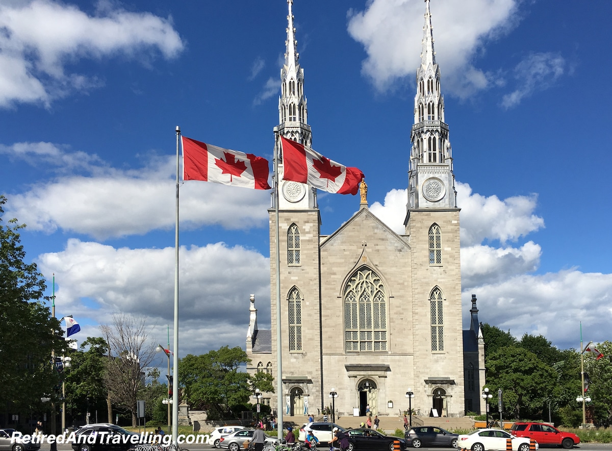 Notre-Dame Cathedral Basilica Church - Ottawa From The River.jpg