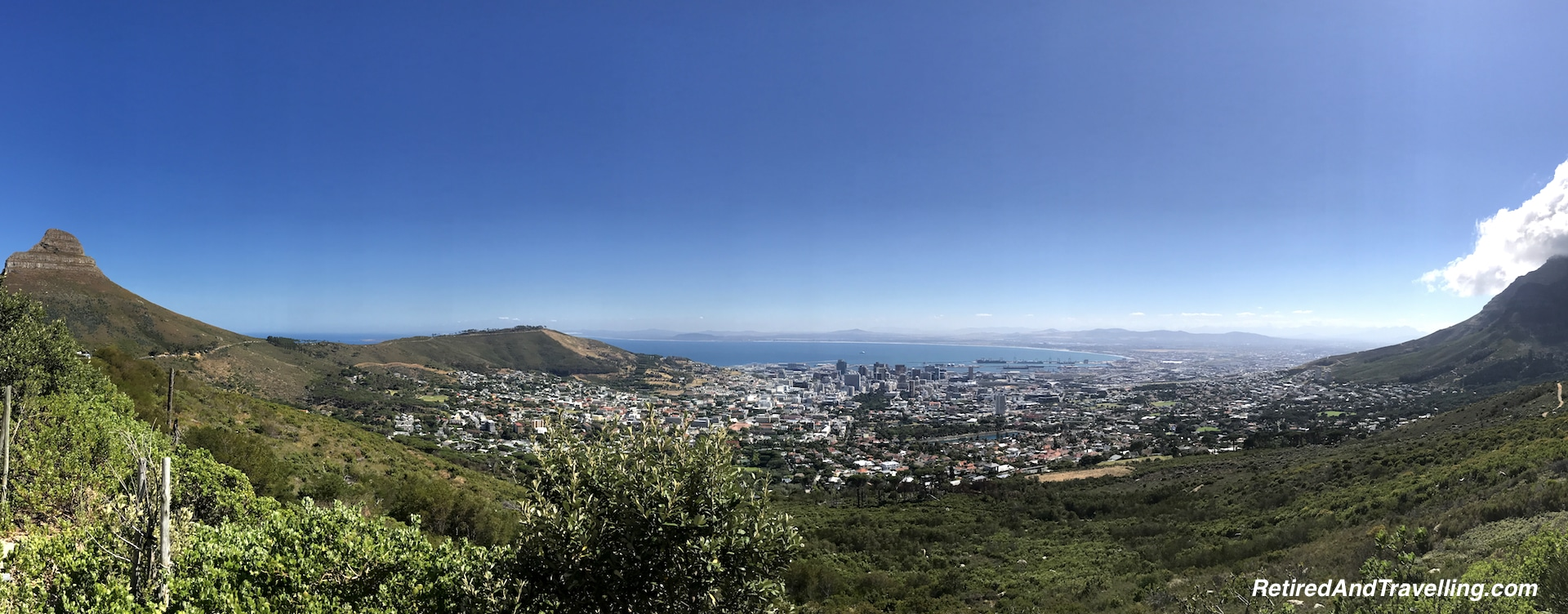 View From Table Mountain over Cape Town - Sea and Mountains Surround Cape Town.jpg
