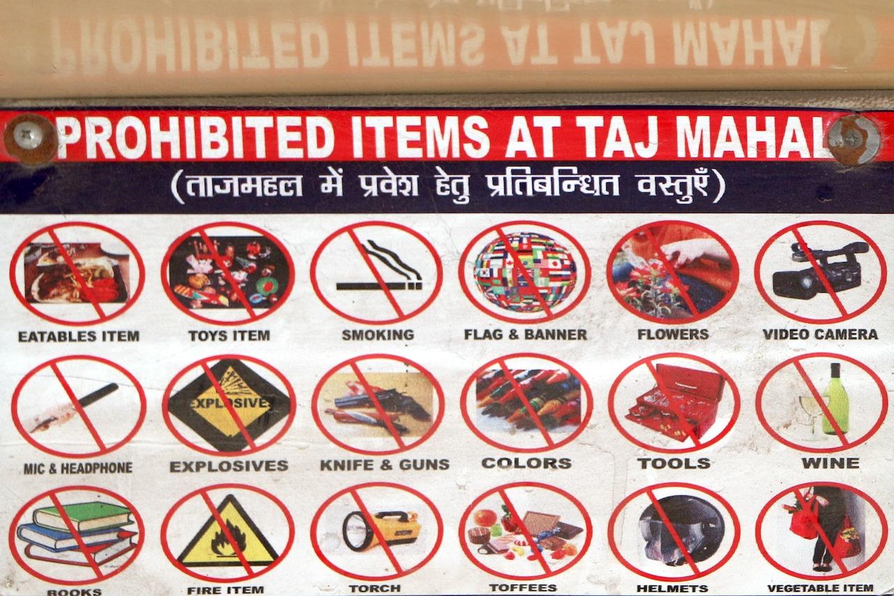 Prohibited Items - Taj Mahal at Sunrise and Sunset.jpg