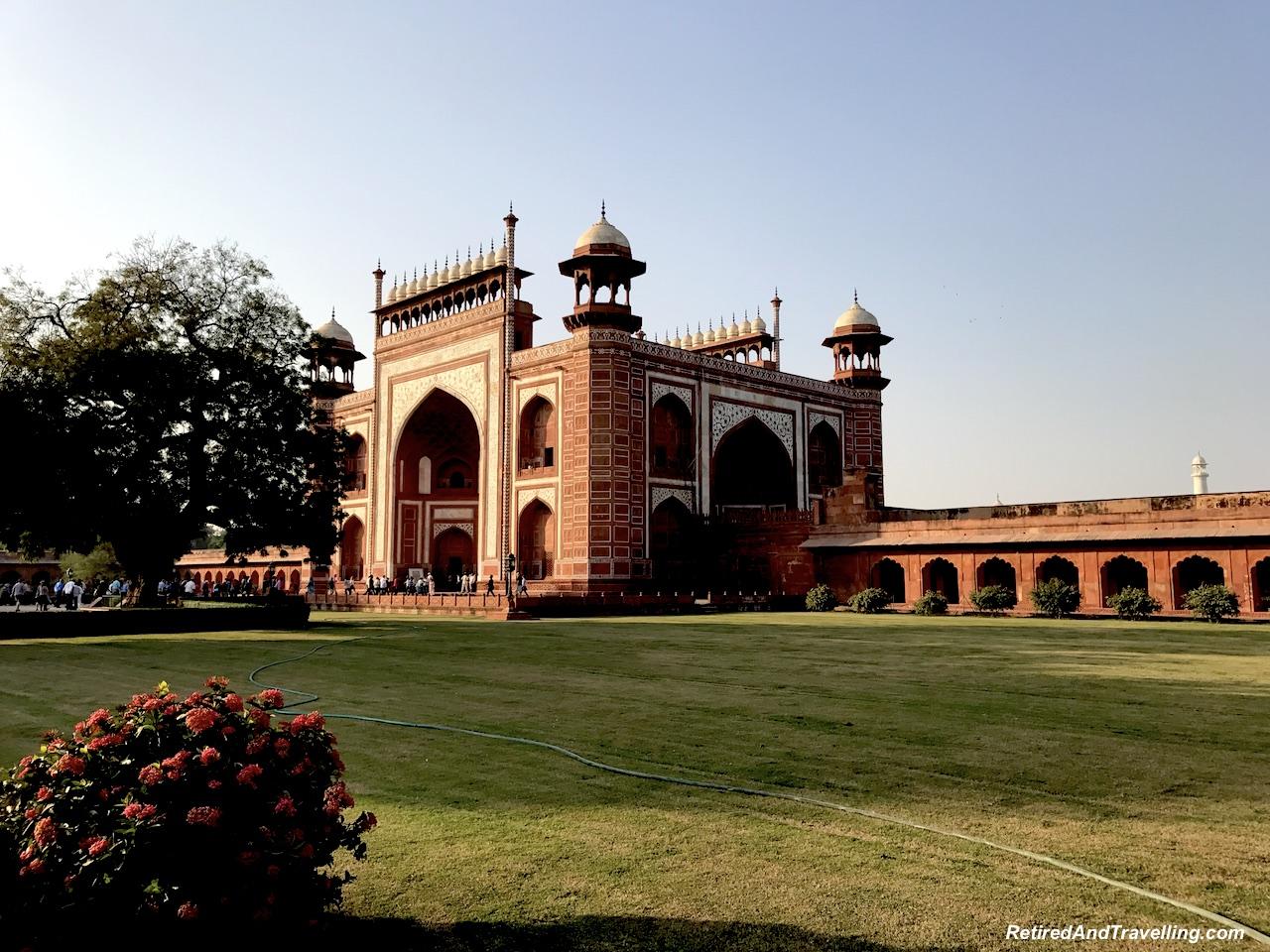 Main Gate - Taj Mahal at Sunrise and Sunset.jpg