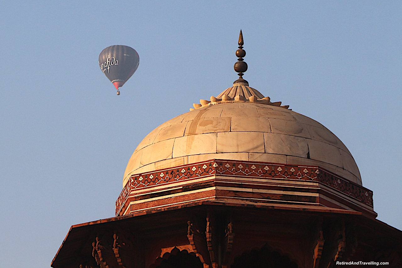 Mosque with Balloons - Taj Mahal at Sunrise and Sunset.jpg
