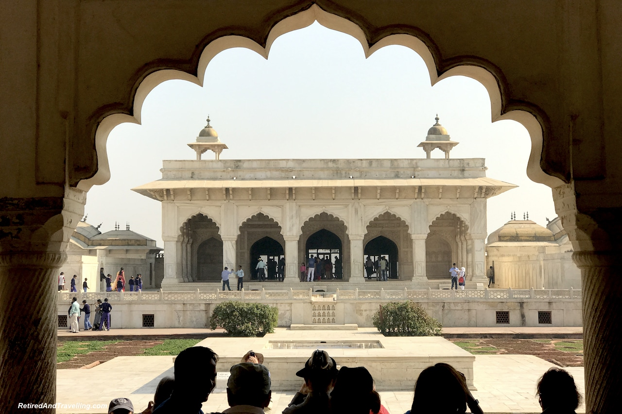 Diwan-I-Am View of Khas-Mahal Palace - Red Fort in Agra.jpg