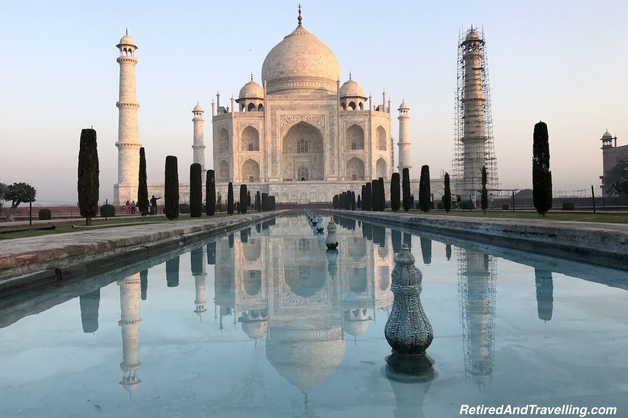 Reflections - Taj Mahal at Sunrise and Sunset.jpg