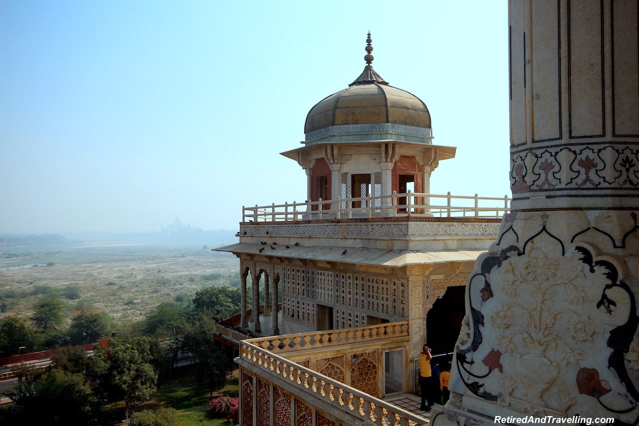 View of the Taj Mahal - Red Fort in Agra.jpg