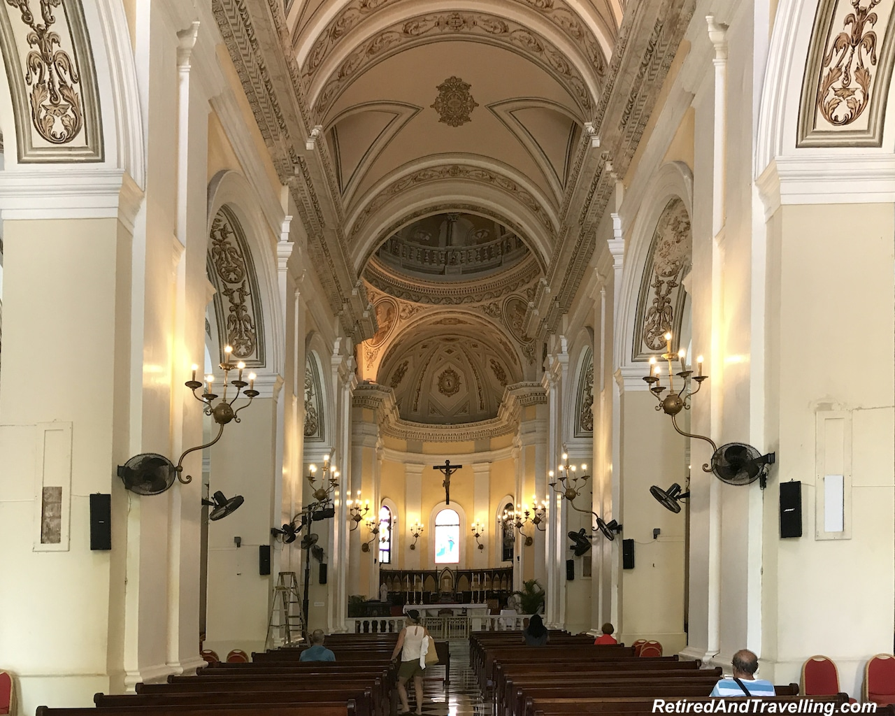 Catedral de San Juan Alter and Stained Glass - Walking in San Juan.jpg