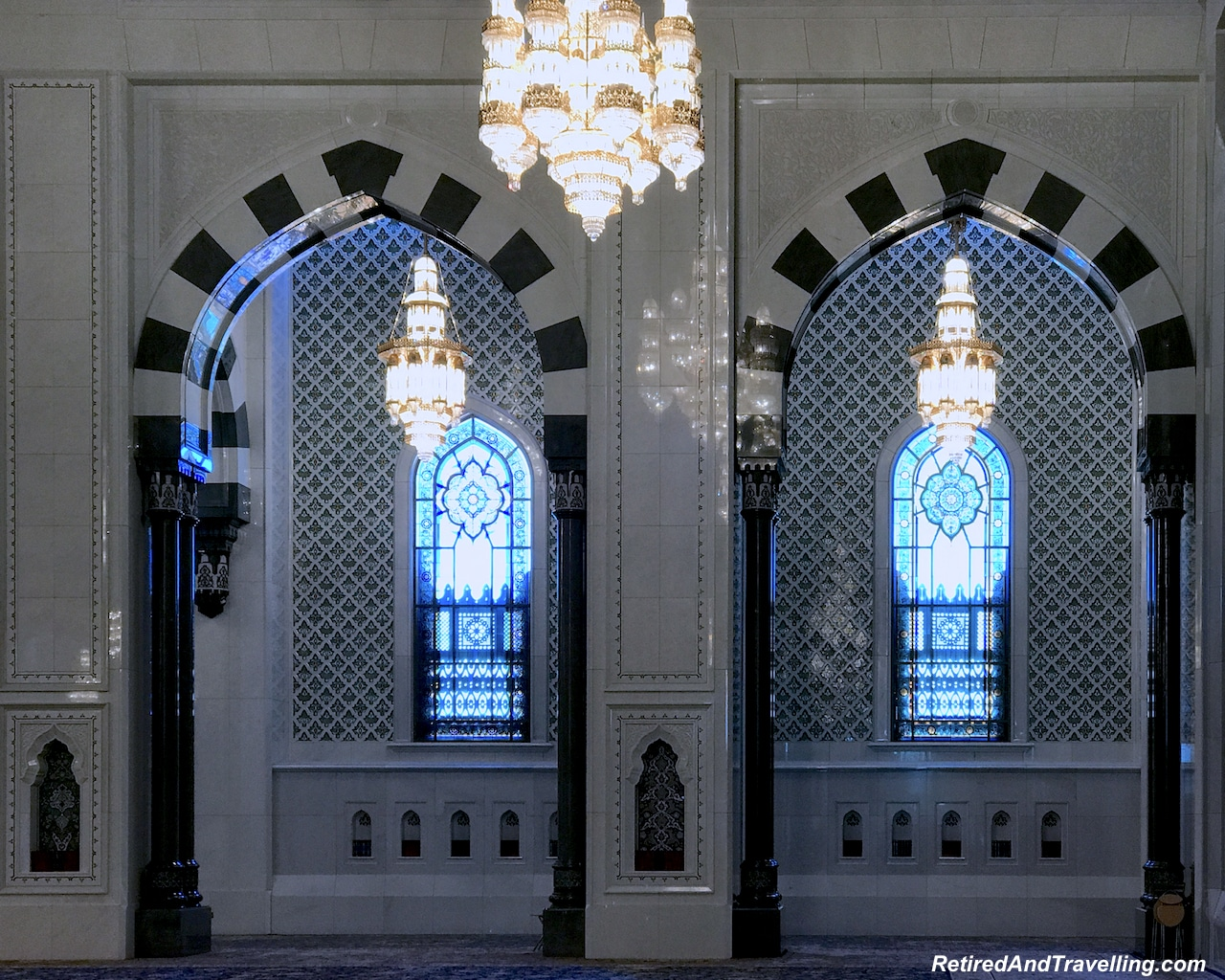 Main Prayer Room Arches and Stained Glass - Grand Mosque in Muscat.jpg