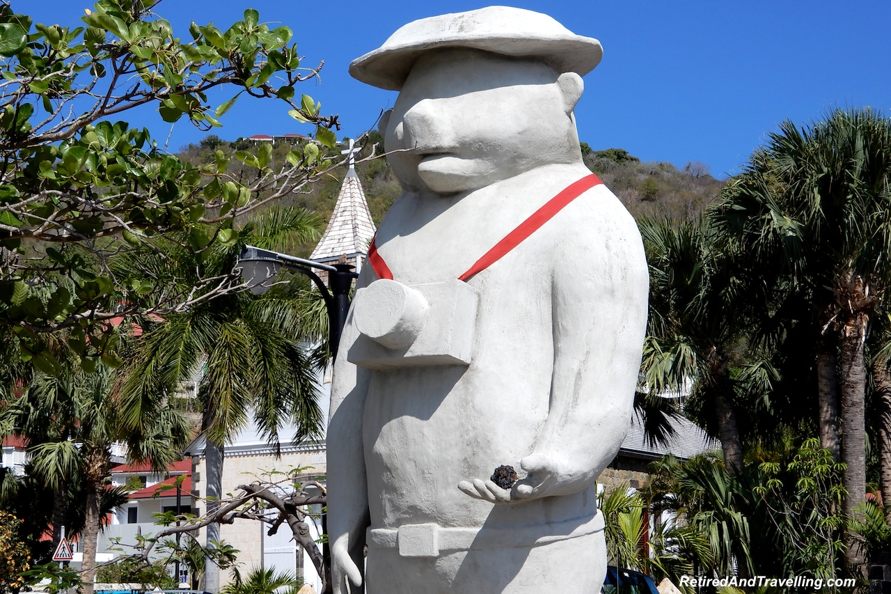 Tourist Camera Statue in Gustavia Port - Head To The Beach in St Barts.jpg