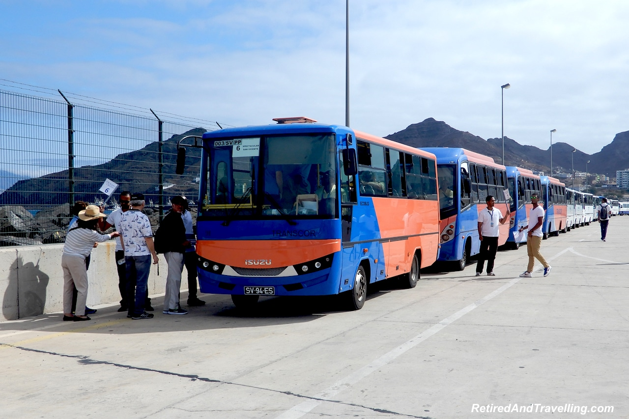 Tourist Buses in Porto Grande - Volcanic Islands of Cape Verde.jpg