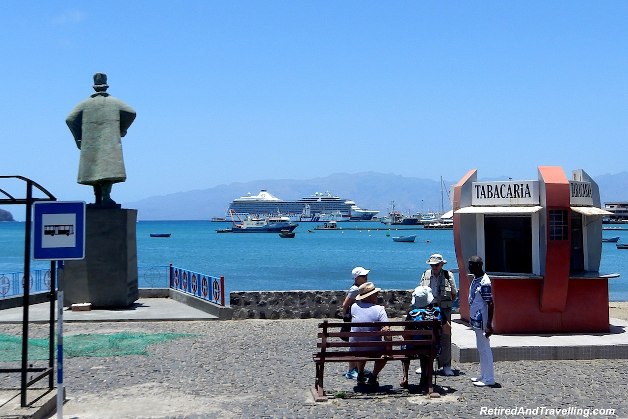 Harbour and view of Oceania Cruises Marina - Volcanic Islands of Cape Verde.jpg