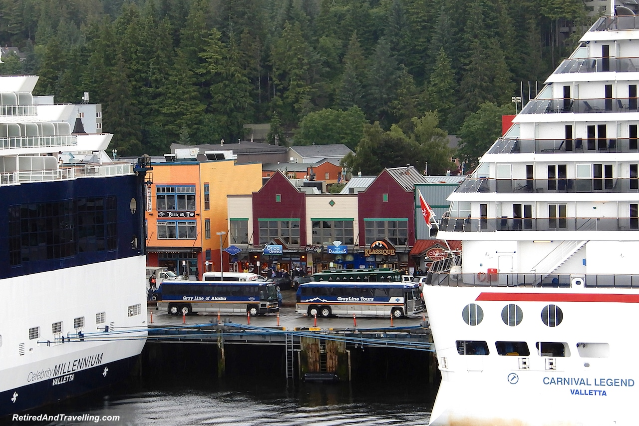 Carnival Cruises and Celebrity Cruises in Ketchikan Harbour - A Rainforest Excursion in Ketchikan.jpg