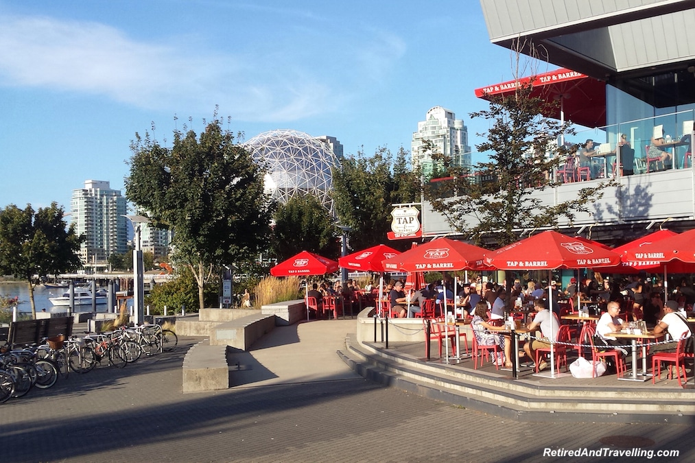 Patios on False Creek - Vancouver Stop On An Alaska Cruise.jpg