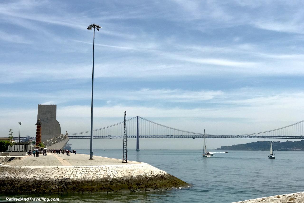 Padraodos Descobrimentos/Monument of Discoveries and April 25 Bridge - Explore The Belem Area of Lisbon.jpg