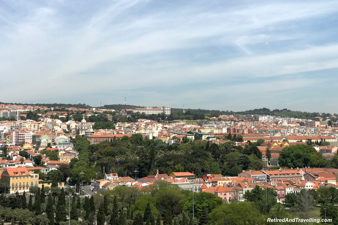 Padraodos Descobrimentos/Monument of Discoveries View of Lisbon Hills.jpg