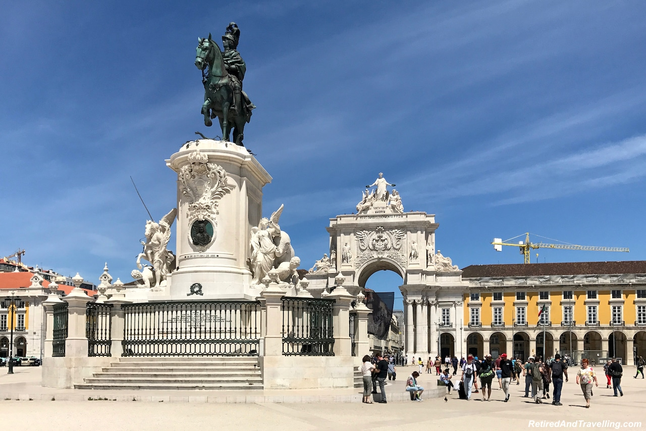 Commercio Square and Augusta Arch - Walking in Lisbon Down The Avenida da Liberdade.jpg