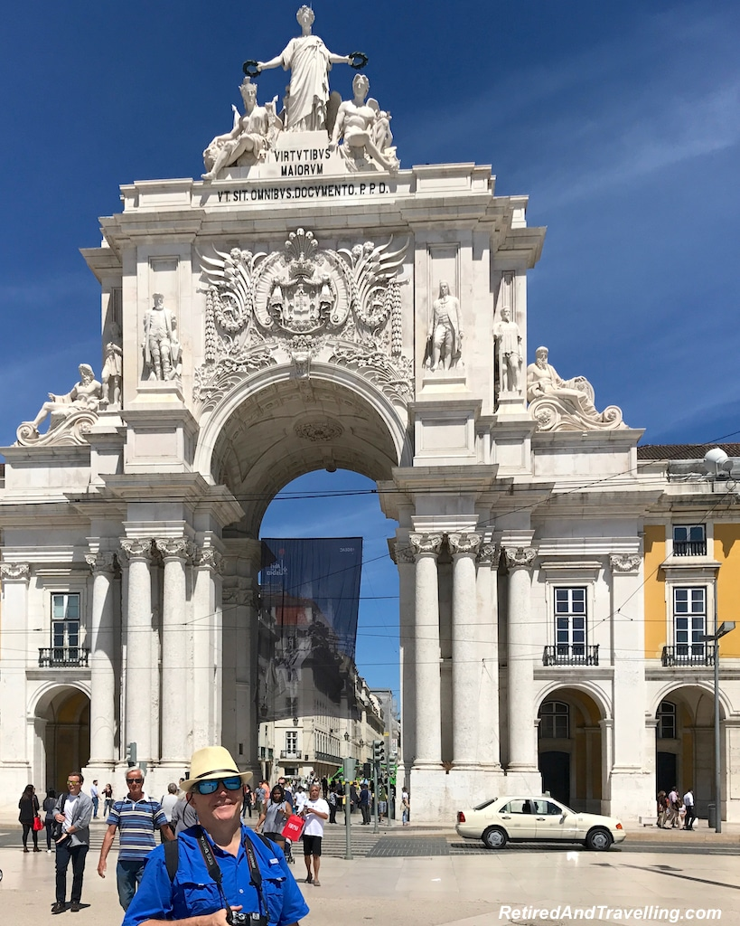 Commercio Square and Augusta Arch - Walking in Lisbon Down The Avenida da Liberdade.jpg
