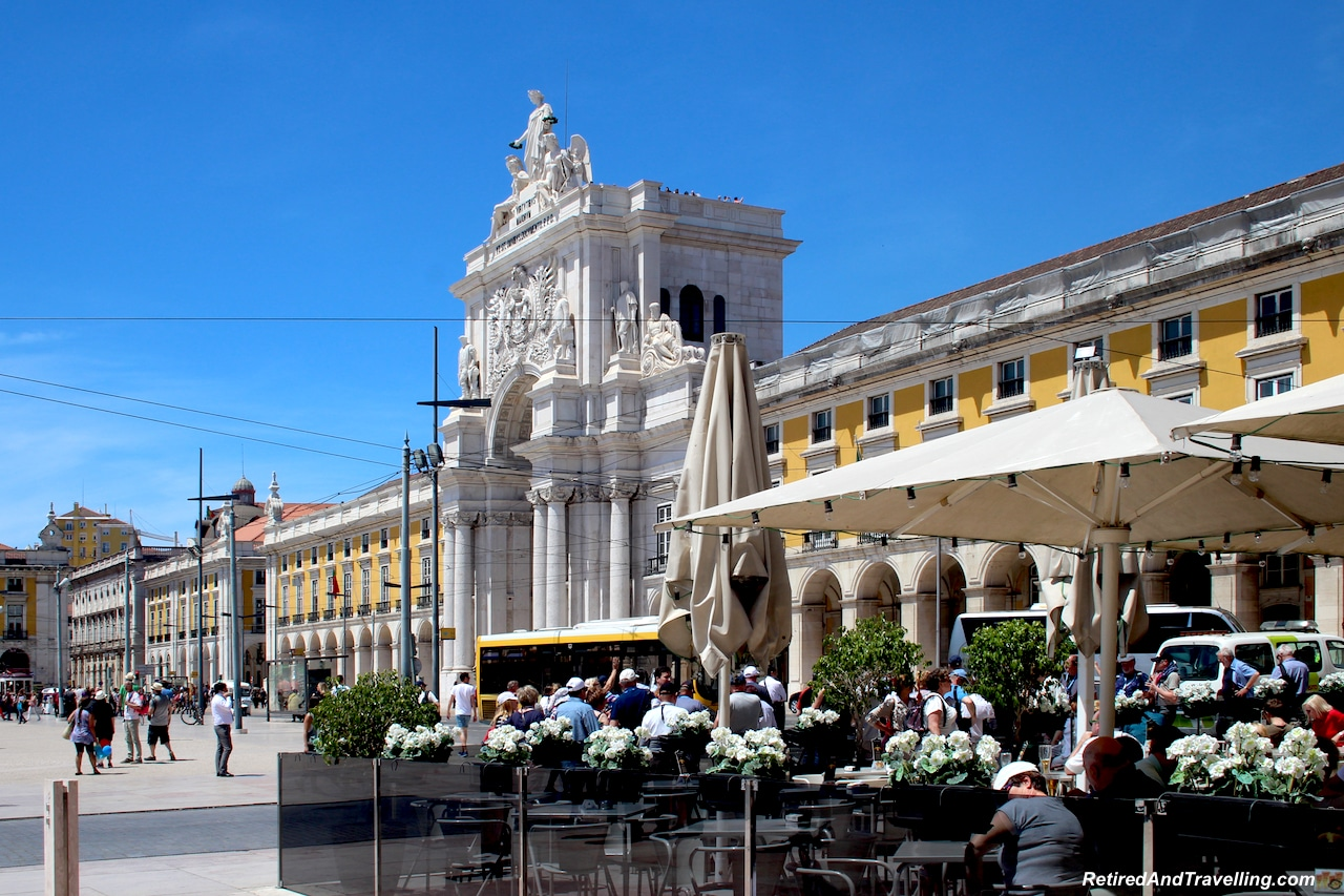 Commercio Square Patios - Walking in Lisbon Down The Avenida da Liberdade.jpg