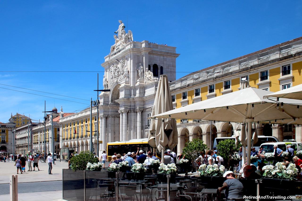 Commercio Square Patios - Walking in Lisbon Down The Avenida da Liberdade.jpg