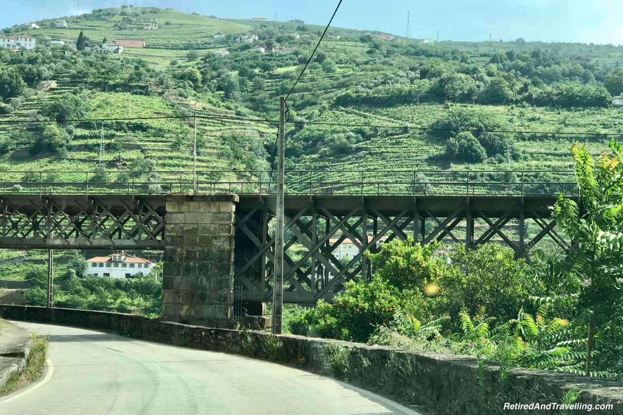 Regua On N108 Route - Driving Along the Douro River Valley