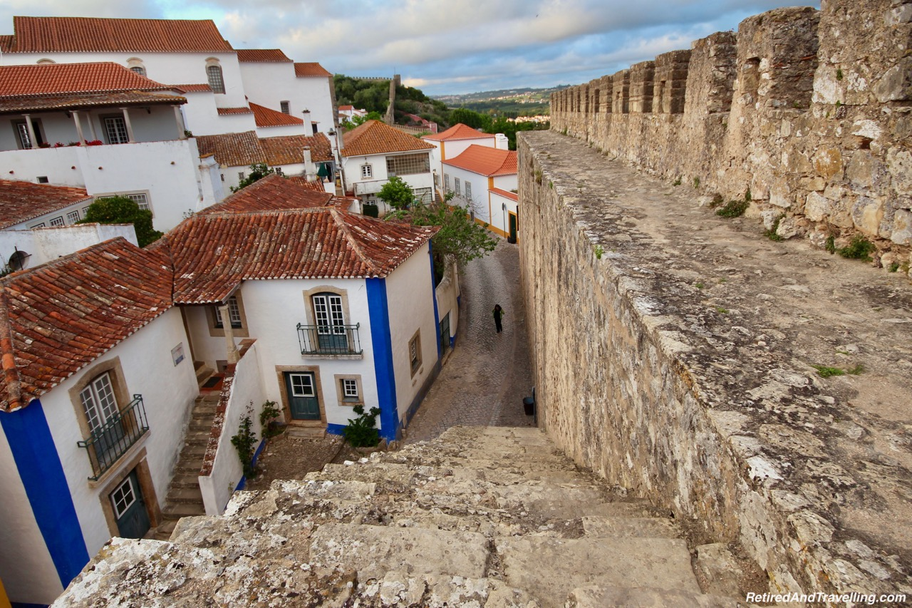 Walk Down From The Wall - Walk On Castle Walls in Obidos.jpg