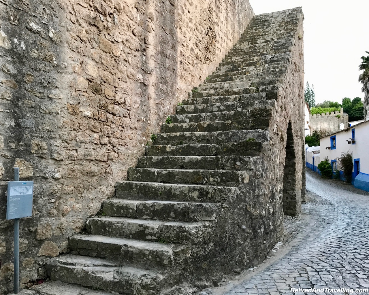 Stairs Up - Walk On Castle Walls in Obidos.jpg