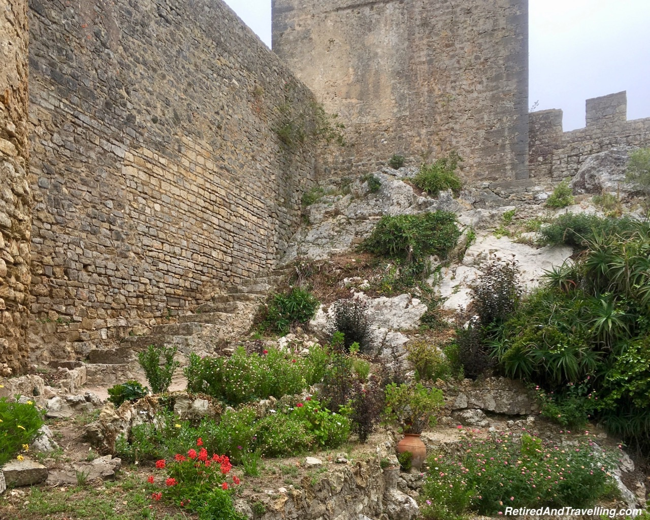 Rocky Stairs Up - Walk On Castle Walls in Obidos.jpg