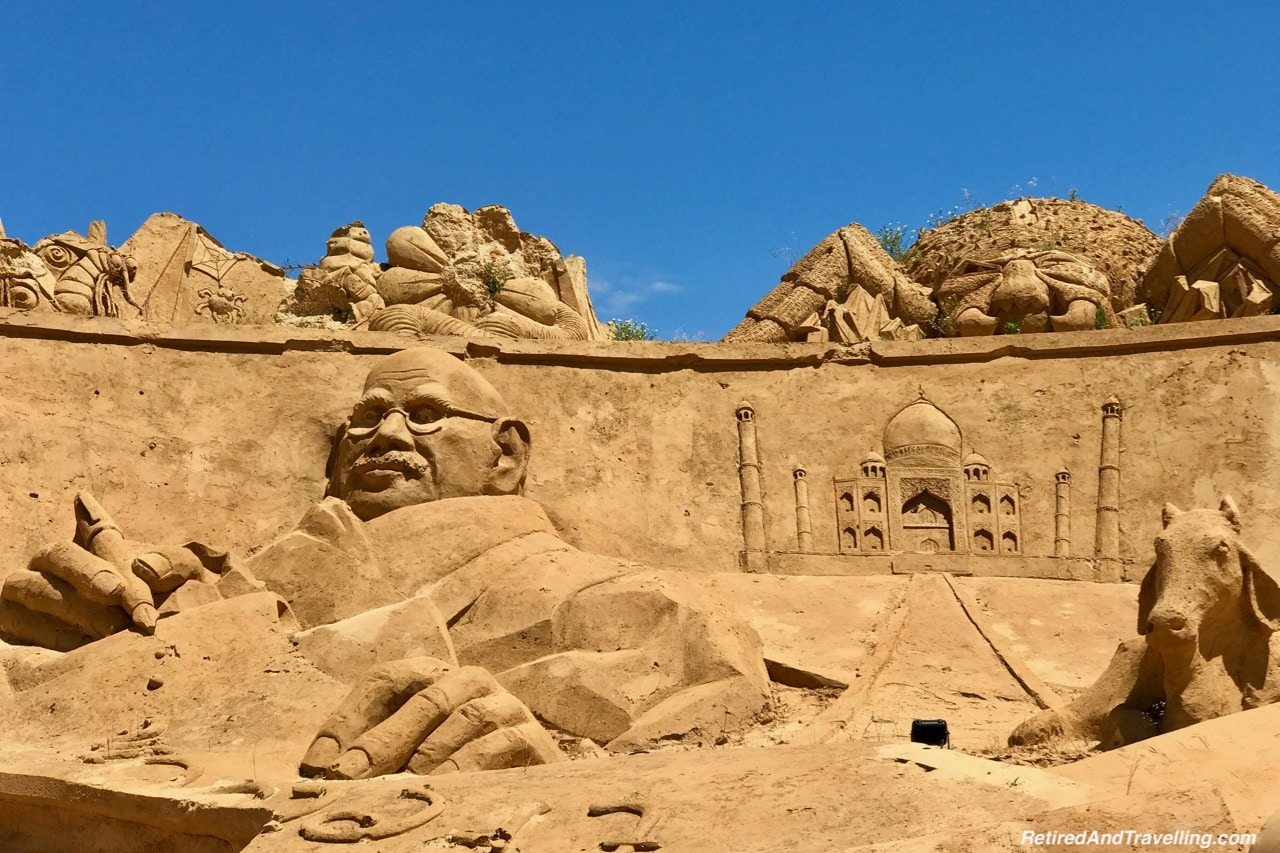 Ghandi and The Taj Mahal Sand Sculpture Scene - Sand City Algarve.jpg