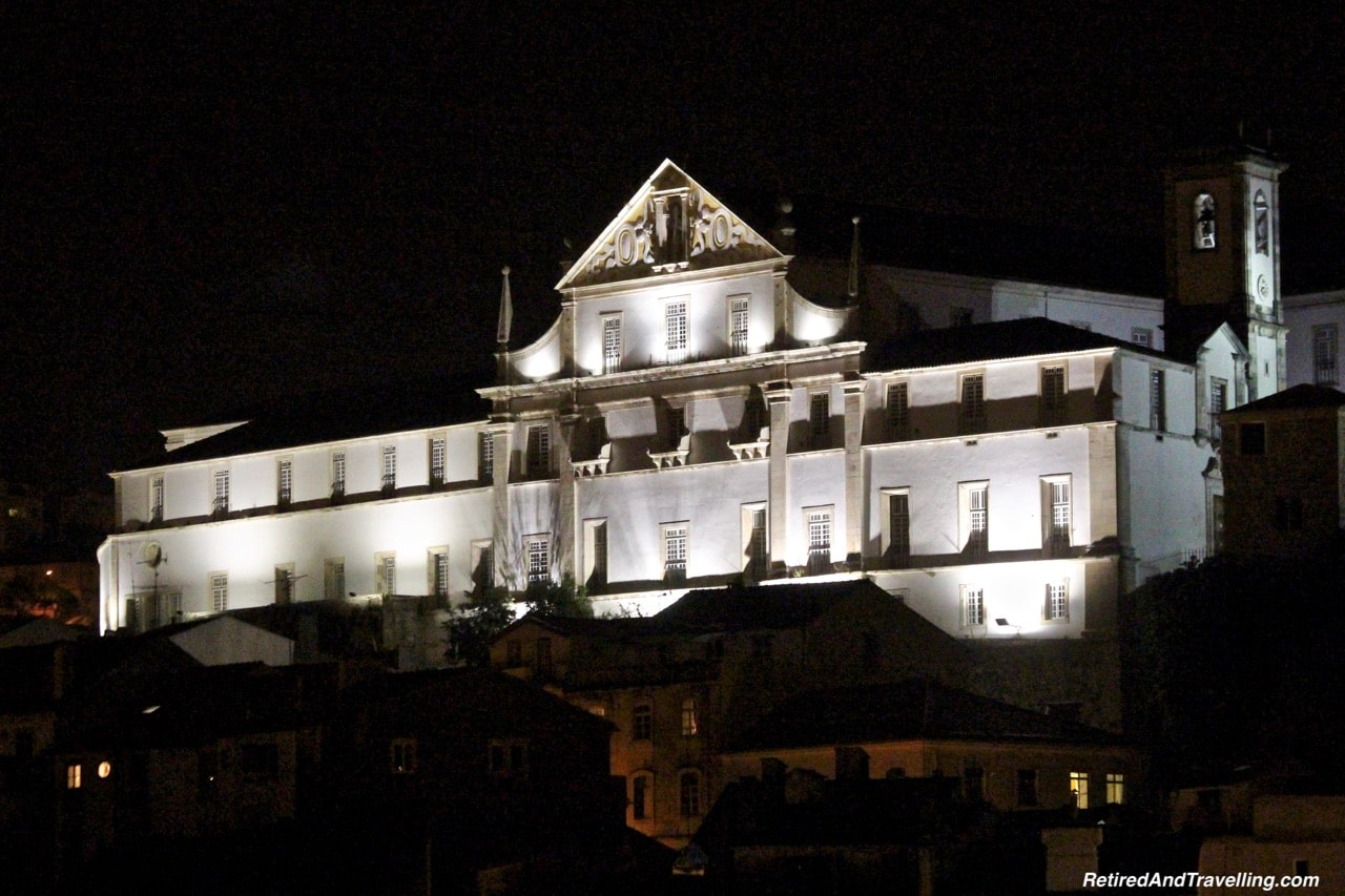 Coimbra University on the Hill at Night - A Short Stop In Coimbra.jpg