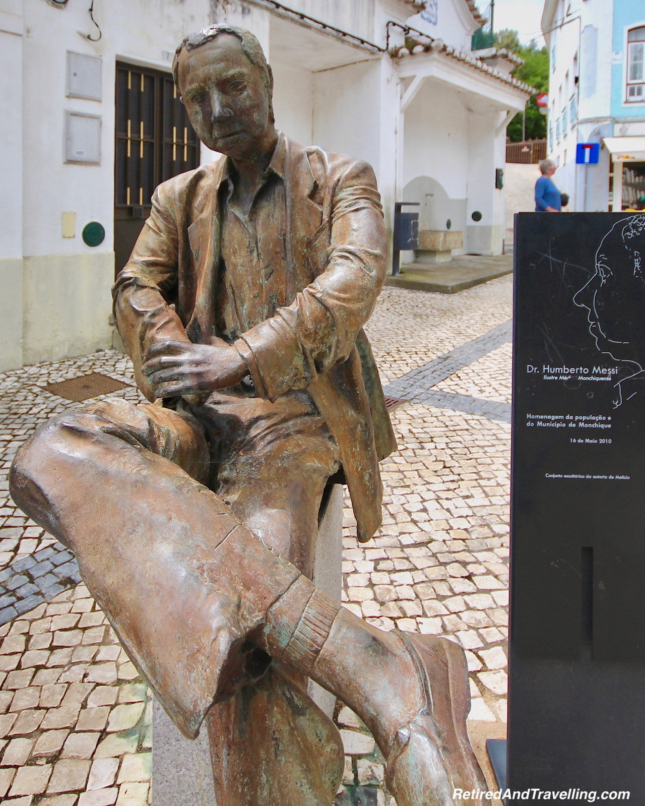 Dr Humberto Messi 2010 Statue in Monchique Village - Algarve Mountains at Monchique.jpg
