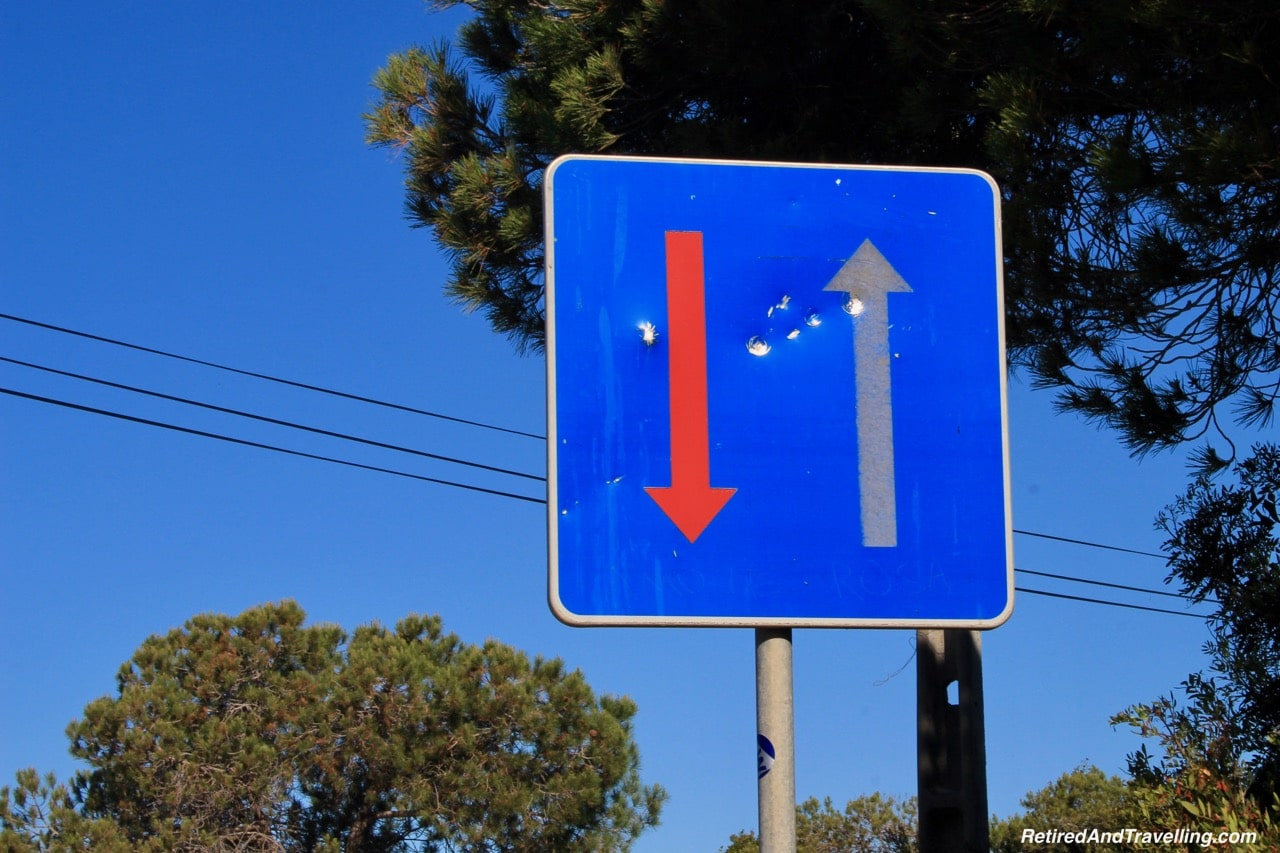 One Way Street Sign - View Of The Algarve Cliffs.jpg