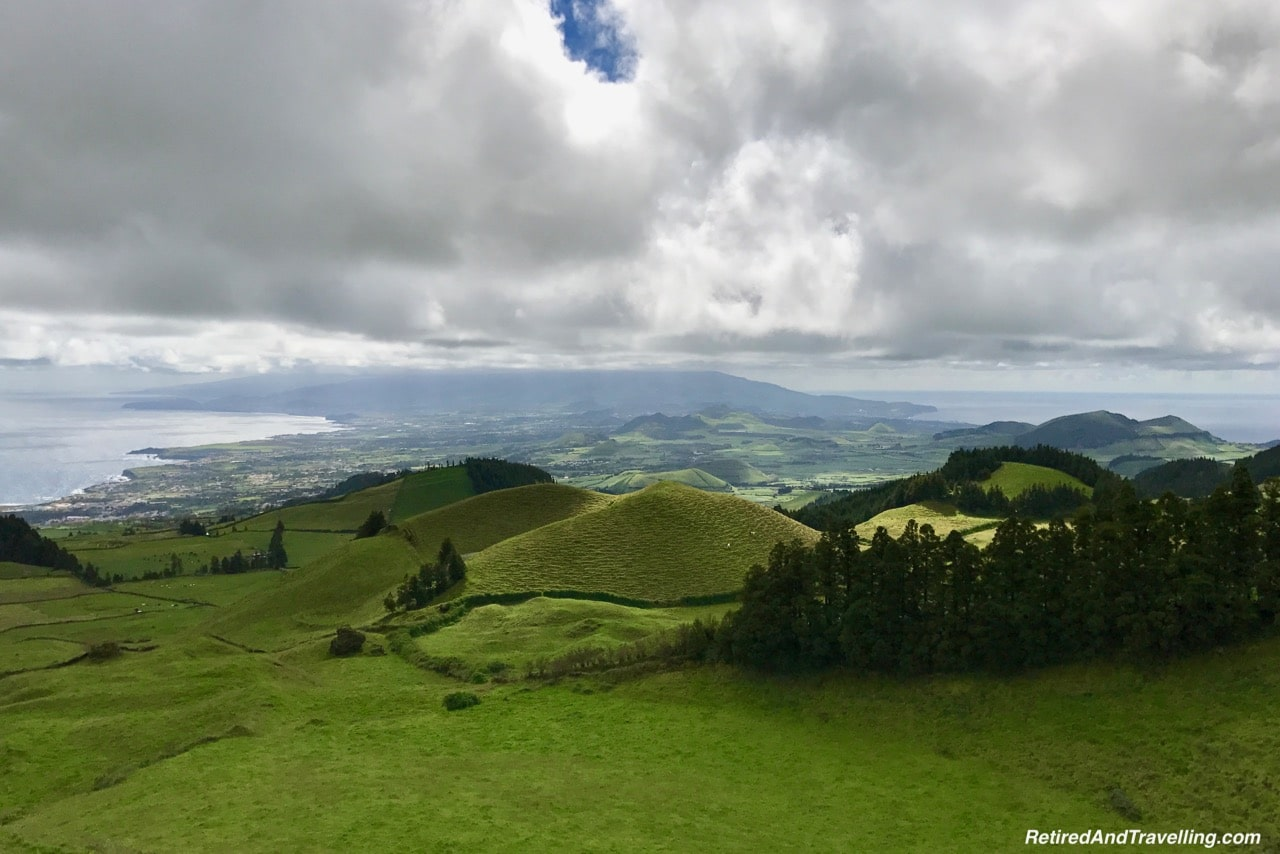 Panoramic View of Both Coasts - Volcanic Setting of Sete Cidades Sao Miguel Azores.jpg