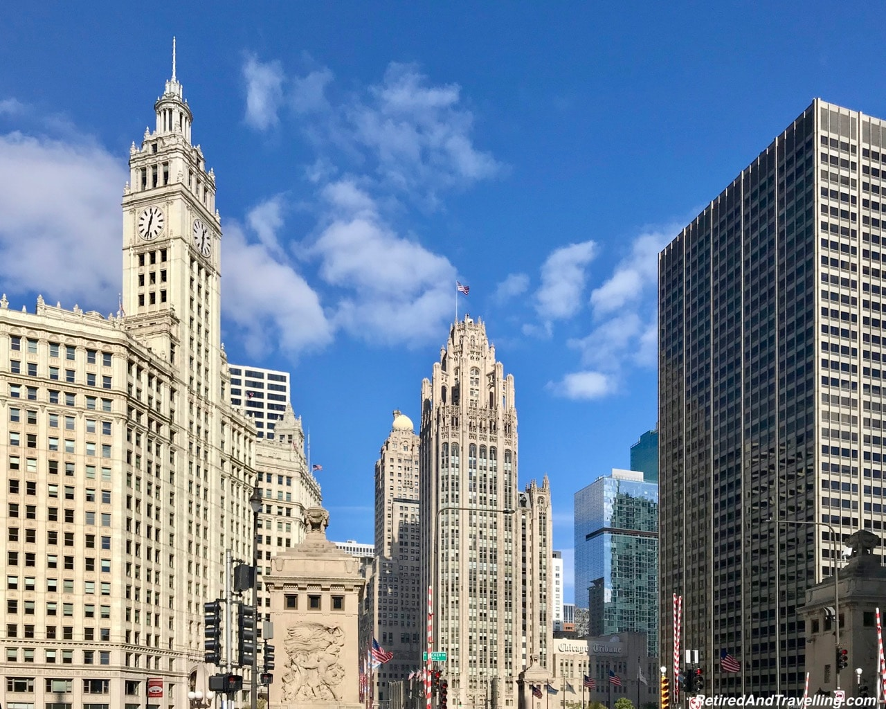 Intercontinental Chicago, Chicago Tribune and Wrigley Building - Eclectic Chicago Architecture.jpg