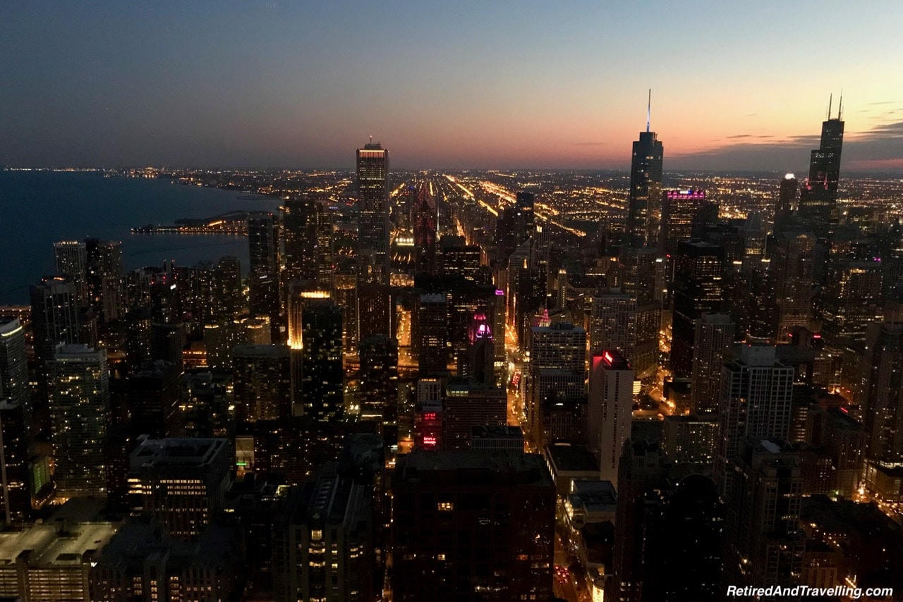 John Hancock Signature Lounge Sunset View - Things To Do - 3 Days In Chicago.jpg