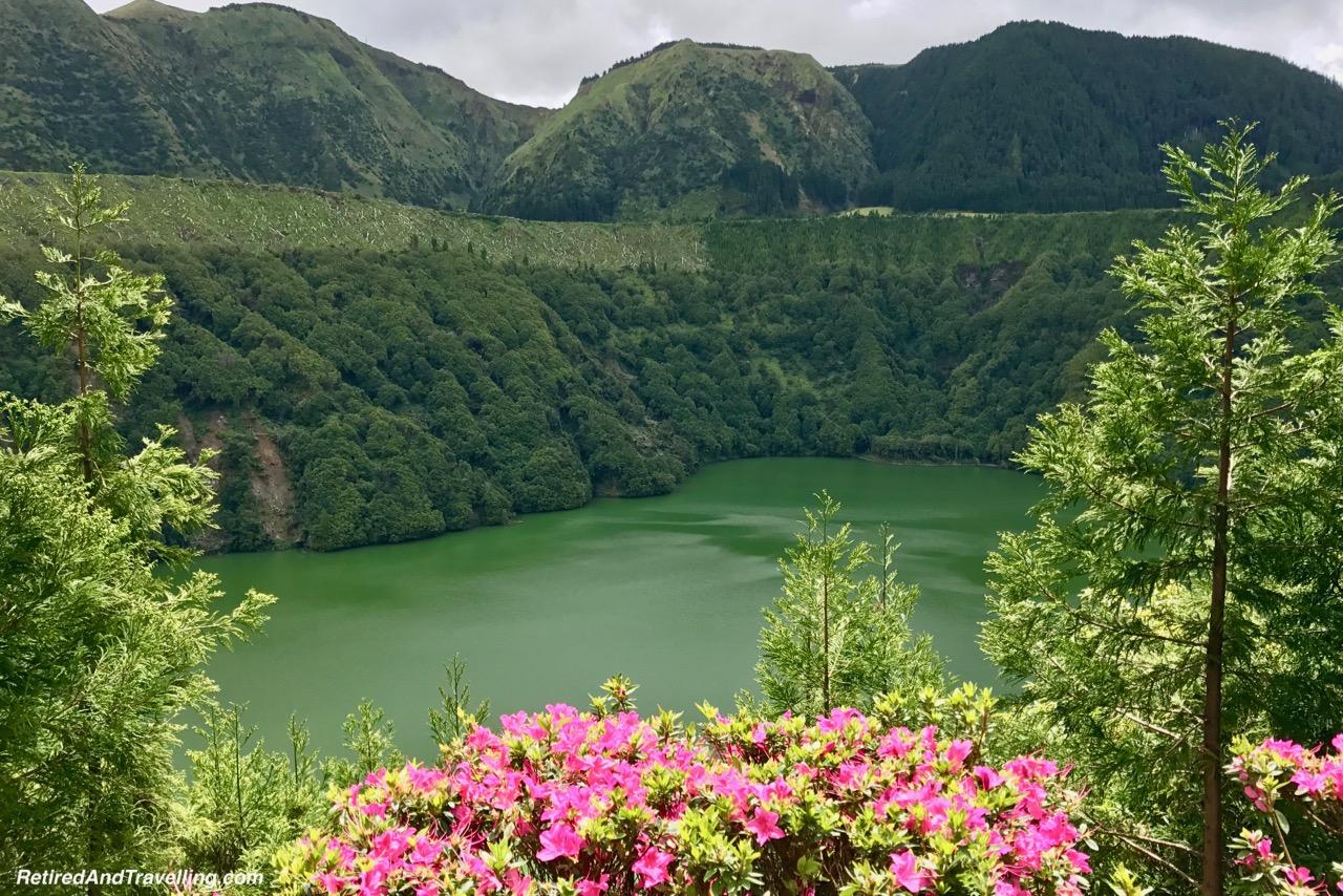 Miradouro da Lagoa Santiago - Volcanic Setting of Sete Cidades Sao Miguel Azores.jpg