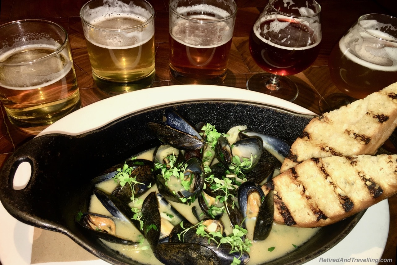 Michael Jordons Steak House Mussels and Beer - Food In Chicago.jpg