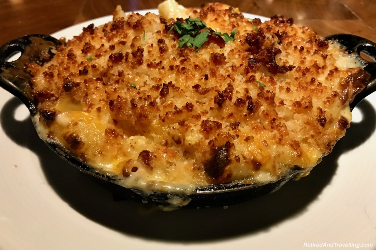 Michael Jordons Steak House Steak Bacon Macaroni and Cheese - Food In Chicago.jpg