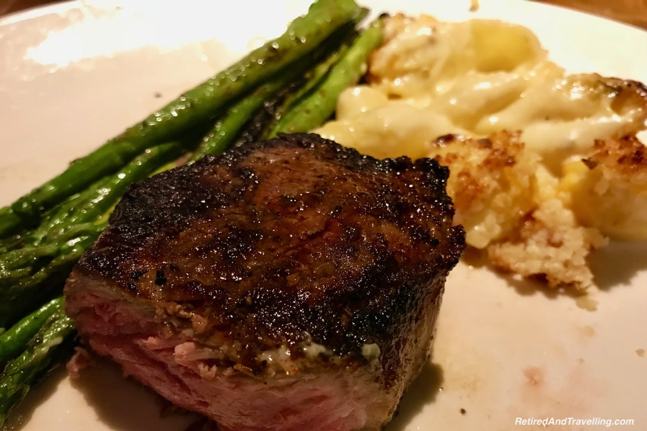 Michael Jordons Steak House Steak and Asparagus - Food In Chicago.jpg