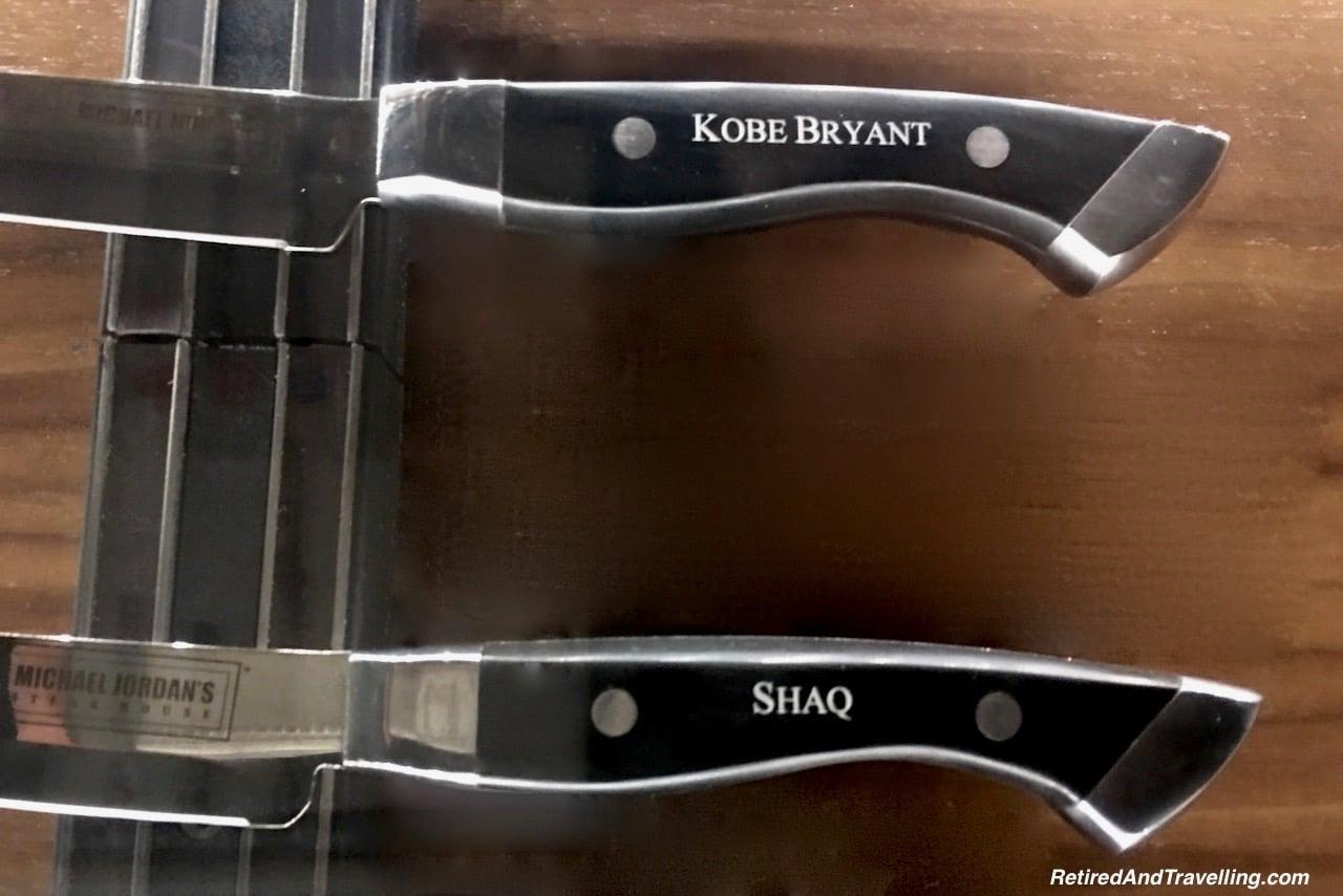 Michael Jordons Steak House Steak Knives Kobe Bryant and Shaq - Food In Chicago.jpg