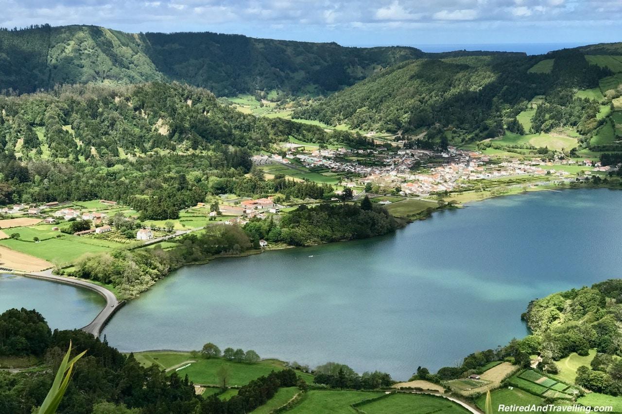 Miradouro do Cerrdo das Freiras Viewpoint - Volcanic Setting of Sete Cidades Sao Miguel Azores.jpg