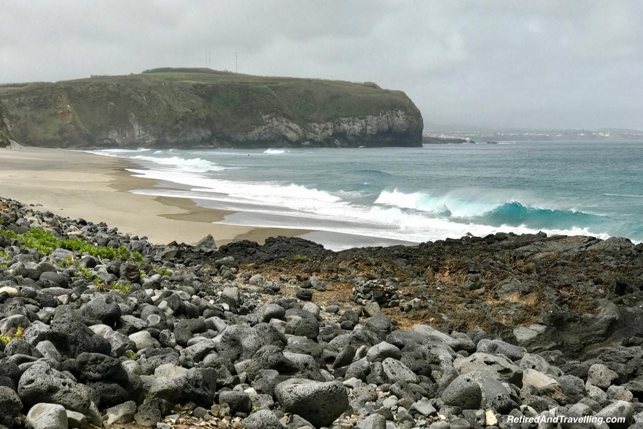 Praia de Santa Barbara Surfing Beach - Pounding Surf on Sao Miguel.jpg
