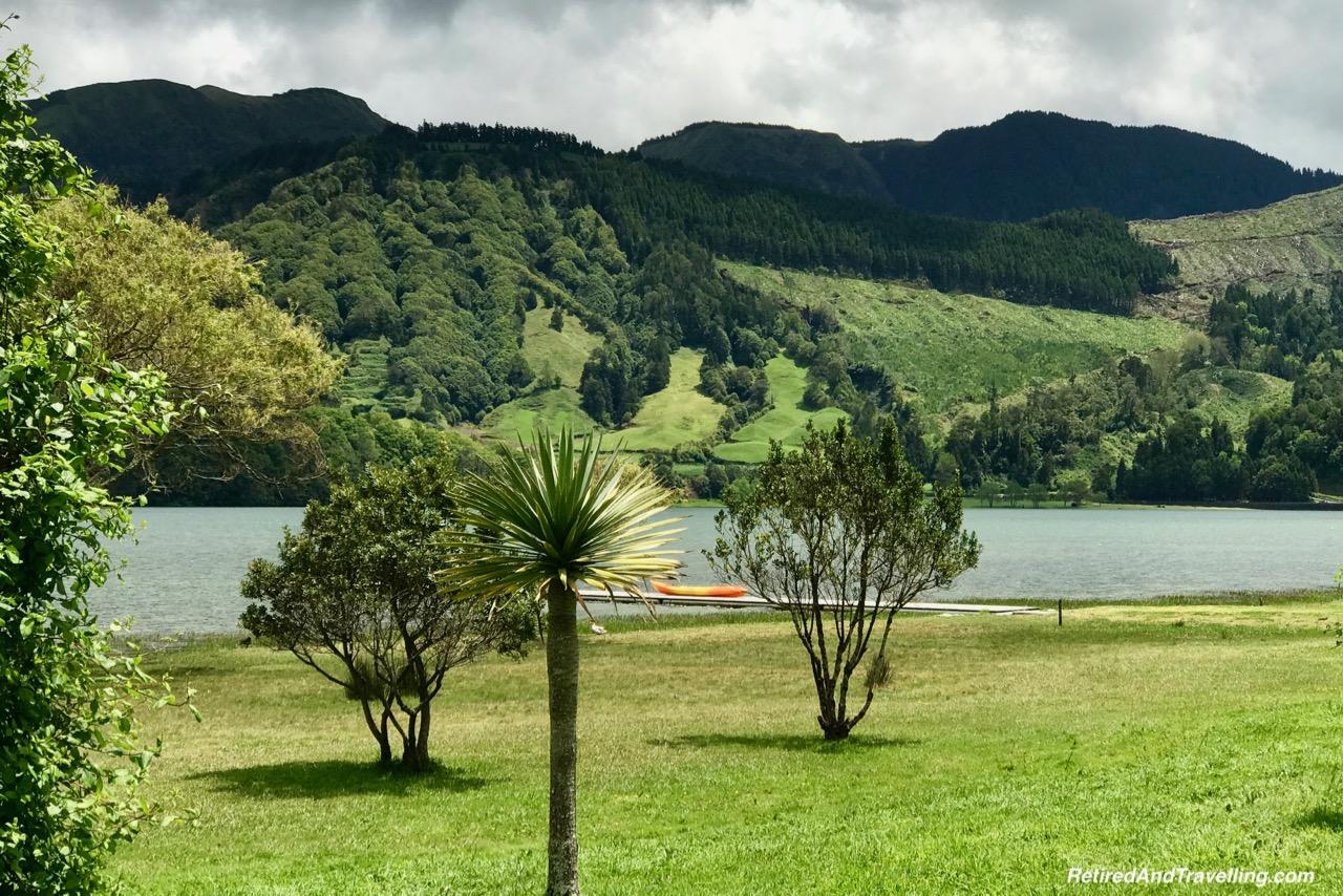 Sete Cidadas Lagoa Azul - Volcanic Setting of Sete Cidades Sao Miguel Azores.jpg